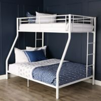 Walker Edison Metal Full Bunk Bed in White