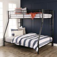Walker Edison Metal Full Bunk Bed in Black