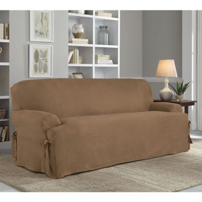 buy taupe sofa slipcovers from bed bath & beyond