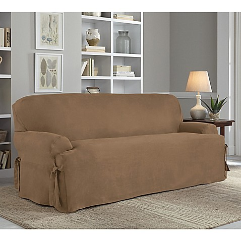 Perfect Fit 174 Smooth Suede Relaxed Fit T Cushion Sofa