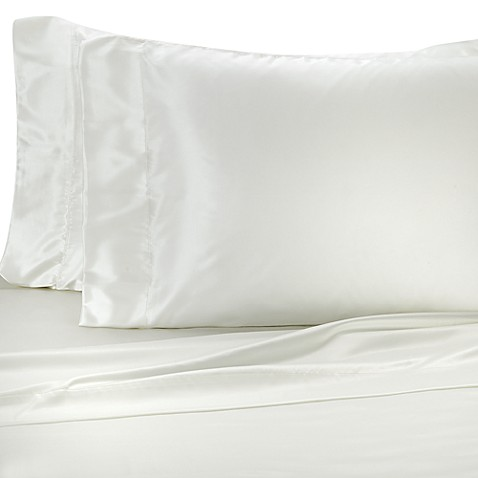 Satin Luxury King Sheet Set in Bone