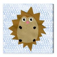 Olivia's Easel Hedgehog 16-Inch x 16-Inch Canvas Wall Art