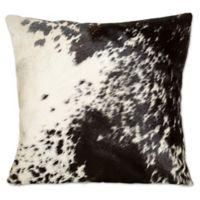 Torino Cowhide Throw Pillow in Black/White