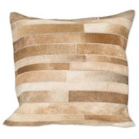 Torino Madrid Square Throw Pillow in Natural