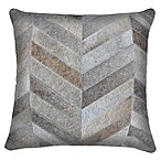 Torino Chevron 18-Inch Square Throw Pillow in Grey
