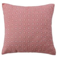 Coral Breeze European Pillow Sham in Coral