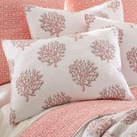 Coral Breeze Reversible Standard Pillow Sham in Coral