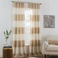 KAS ROOM Carina 108-Inch Rod Pocket Window Curtain Panel in Linen