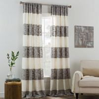 KAS ROOM Carina 108-Inch Rod Pocket Window Curtain Panel in Grey