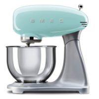 SMEG 5-Quart Retro Stand Mixer with Stainless Steel Bowl in Pastel Green