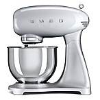SMEG 50's Retro Style 5-Quart Stand Mixer with Stainless Steel Bowl in Silver