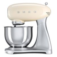 SMEG 5-Quart Retro Stand Mixer with Stainless Steel Bowl in Cream