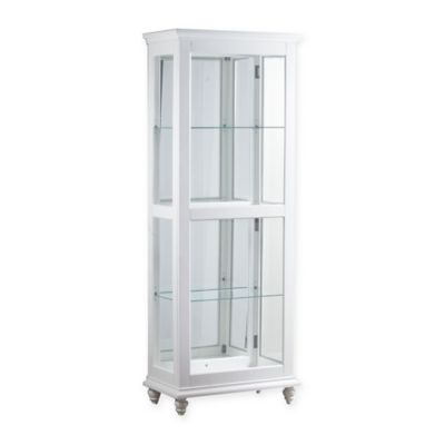 Powell Whitehurst Large Curio Cabinet In White