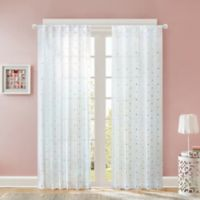 Regency Heights Nanni Embroidery Sheer 84-Inch Window Curtain Panel in White