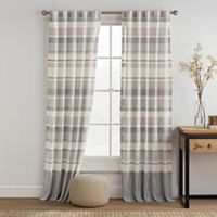 KAS ROOM Logan 95-Inch Rod Pocket Back Tab Window Curtain Panel in Teal
