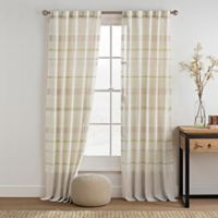 KAS ROOM Logan 84-Inch Rod Pocket Back Tab Window Curtain Panel in Lime