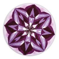 Grund Purple Rain Designer Mandala 32-Inch Round Bath and Accent Rug in Purple