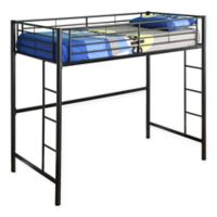 Walker Edison Twin Loft Bed in Black
