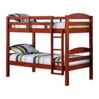 Forest Gate Solid Wood Twin-Over-Twin Bunk Bed in Cherry