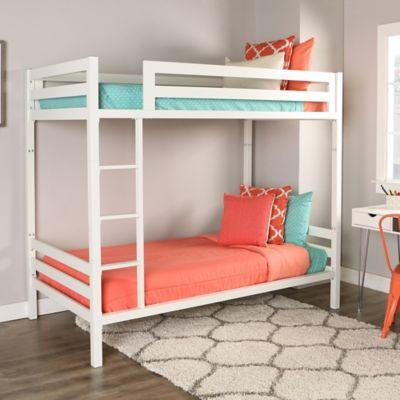 walker edison bunk bed in white