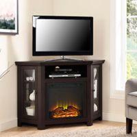 Walker Edison 48-Inch Corner Fireplace TV Stand in Espresso
