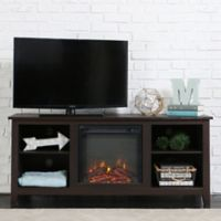 Walker Edison 58-Inch Essential Fireplace TV Console in Espresso