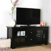 Walker Edison® 52-Inch Wood Console with Doors in Black