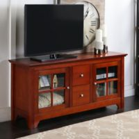 Walker Edison® 52-Inch Wood Console with Doors in Brown