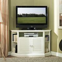 Walker Edison 52-Inch TV Corner Console in White