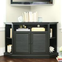 Walker Edison 52-Inch TV Corner Console in Black