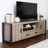 Walker Edison 60-Inch TV Console in Driftwood