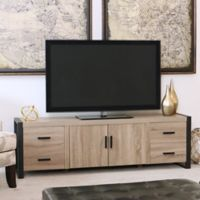Walker Edison 70-Inch TV Console in Driftwood