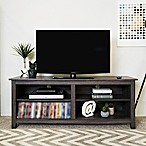 "Forest Gate 58"" Wood Media TV Stand Console in Charcoal"
