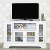 Walker Edison 52-Inch Highboy Wood TV Console in White