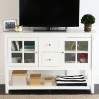 Walker Edison 52-Inch Wood Console Table TV Stand in White