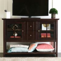 Walker Edison 52-Inch Wood Console Table TV Stand in Espresso
