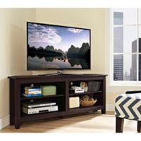 Walker Edison Essential 58-Inch Corner TV Console in Espresso