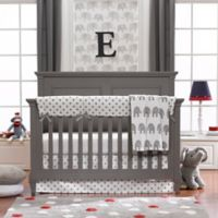 Liz And Roo 4 Piece Grey Elephant Crib Bedding Set