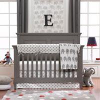 Liz And Roo 4 Piece Grey Elephant Crib Bedding Set