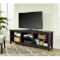 Walker Edison 70-Inch Wood TV Stand in Espresso