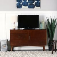 Walker Edison angelo:HOME 52-Inch Mid-Century TV Console in Walnut
