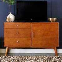 Walker Edison angelo:HOME 52-Inch Mid-Century TV Console in Acorn