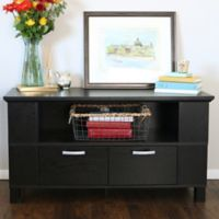 Walker Edison® 44-Inch TV Console with End Shelves in Black