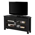 Forest Gate Corner TV Console in Black