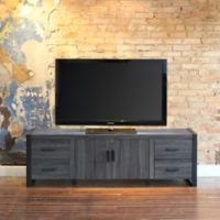 Walker Edison 70-Inch Wood TV Stand Console in Charcoal