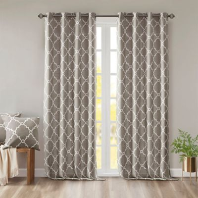 Madison Park Saratoga Grommet Top Window Curtain Panel