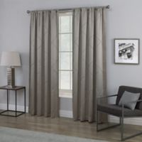 Empress 84-Inch Rod Pocket Window Curtain Panel in Grey