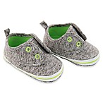 Rising Star™ Size 9-12M Casual Sneaker in Heather Grey/Lime