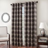 Cadence Chenille Jacquard 84-Inch Window Curtain Panel in Slate