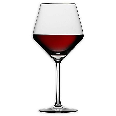 schott zwiesel tritan pure burgundy wine glasses set of 4 bed bath beyond. Black Bedroom Furniture Sets. Home Design Ideas